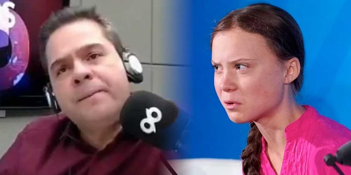 Al aire, periodista brasileño se desata en insultos contra Greta Thunberg y le cuesta el puesto