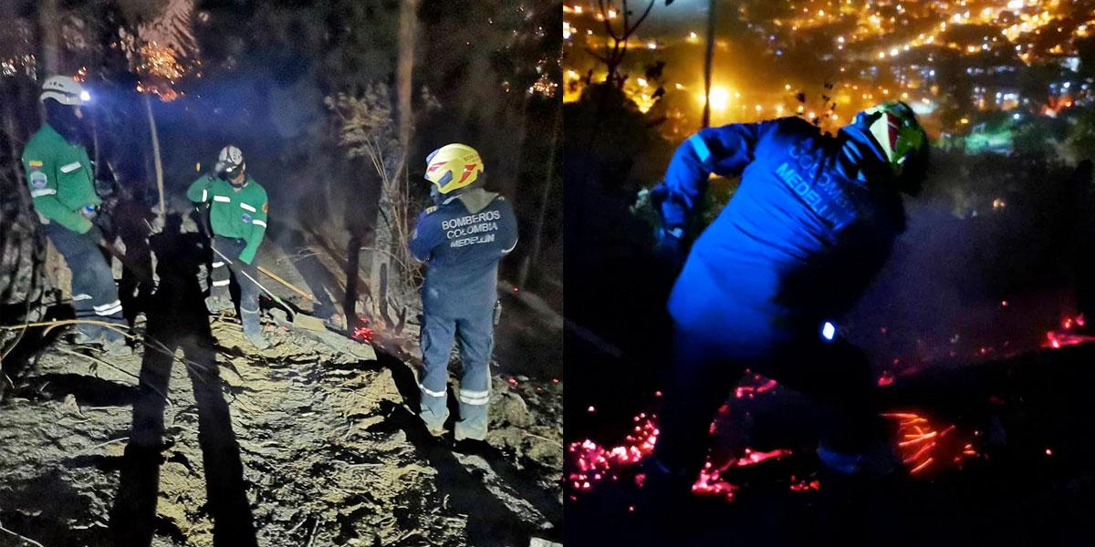 Reportan incendio en ladera oriental de Medellín