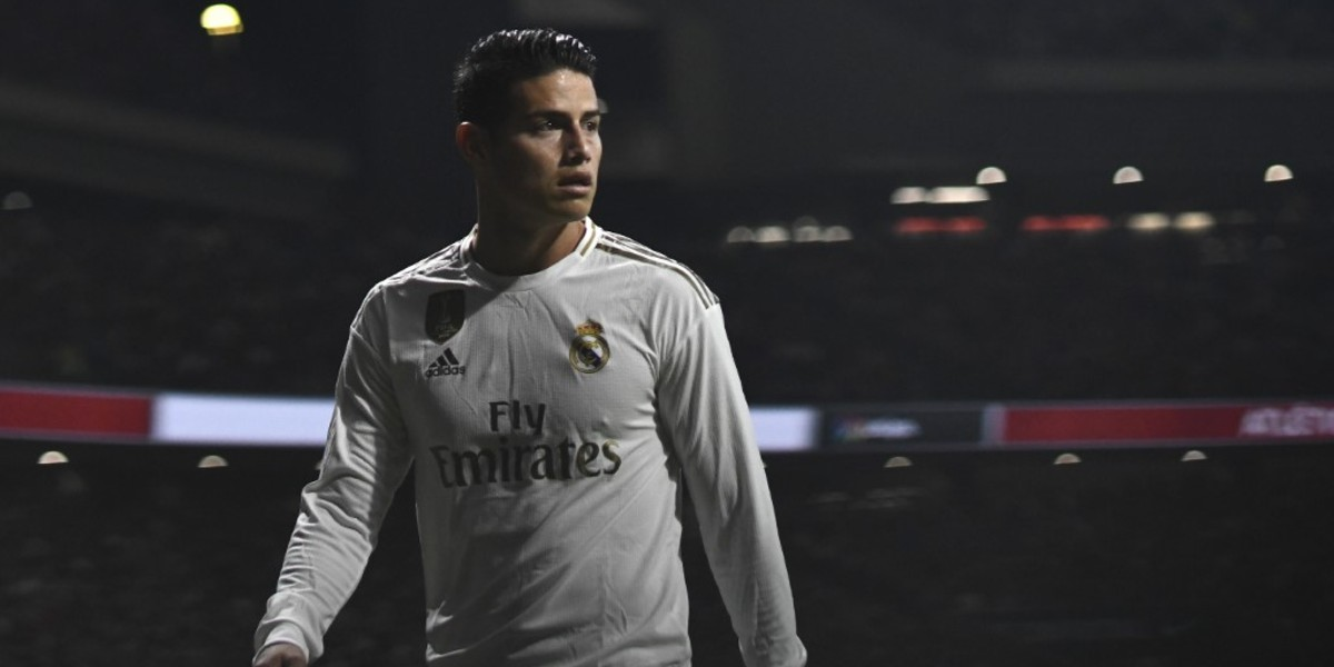 Zidane descarta a James para el partido de Champions entre Real Madrid y el Brujas