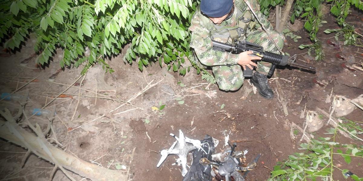Incautan dos drones con explosivos en Tumaco, Nariño
