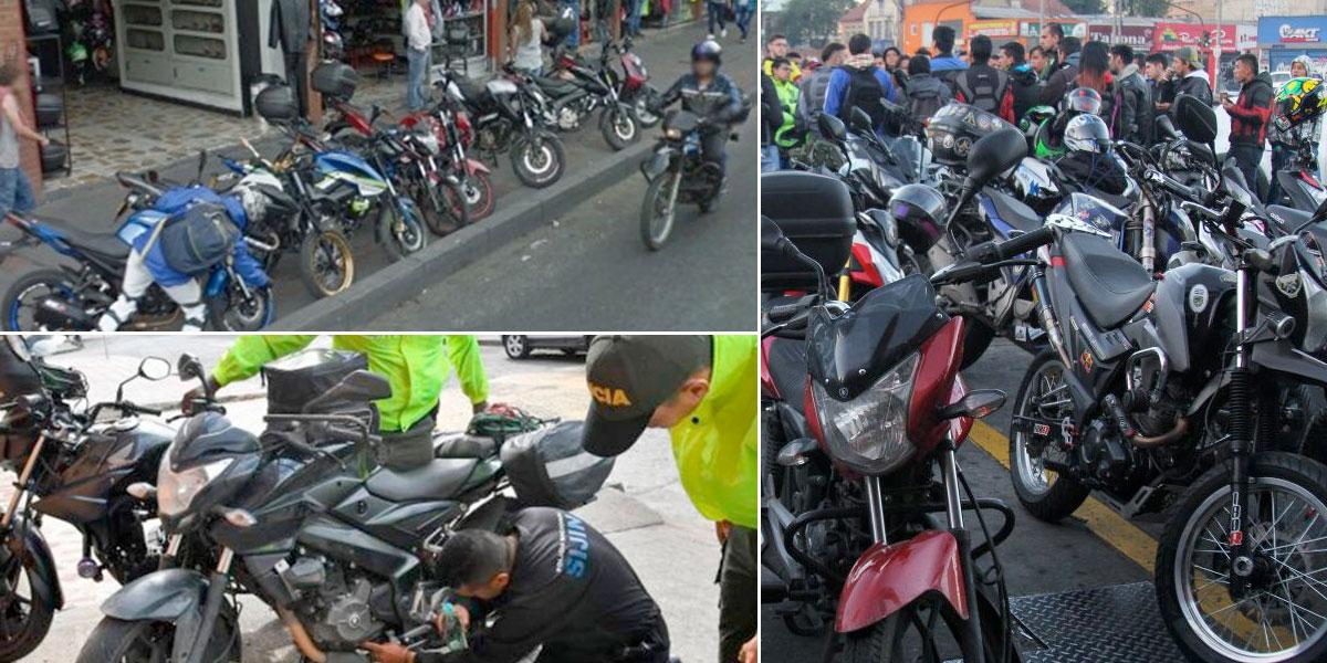 ¿Qué marcas de moto son las favoritas de los ladrones en Bogotá?