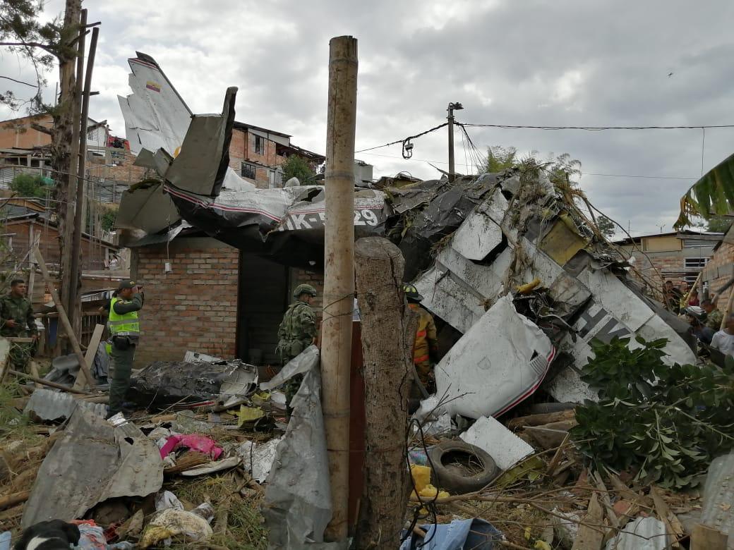 Accidente aéreo en zona residencial de Popayán