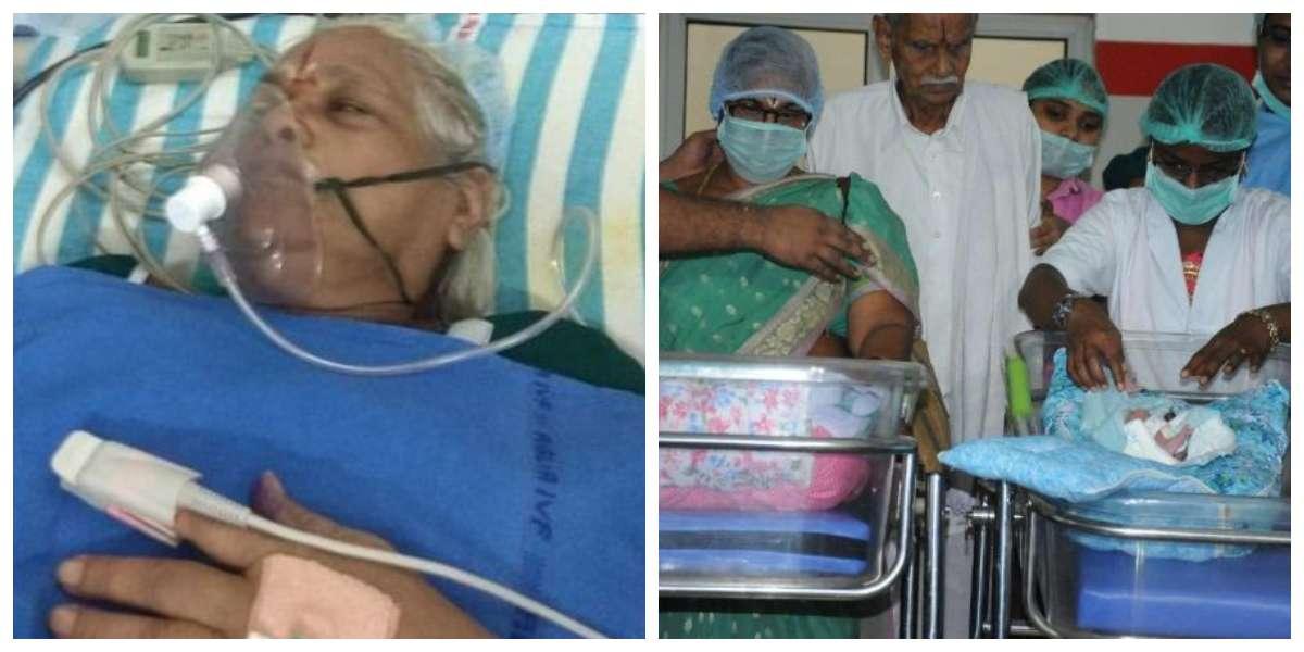 La mujer que a sus 73 años dio luz a gemelas