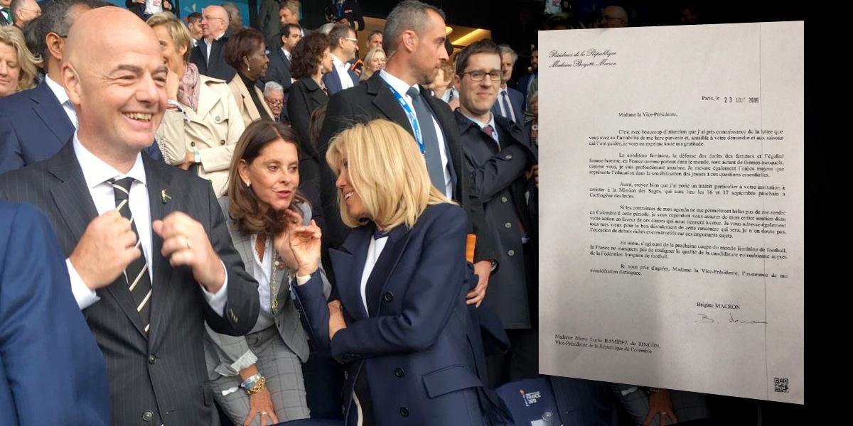 El espaldarazo de B. Macron a Marta L. Ramírez para que Colombia sea sede del Mundial Femenino