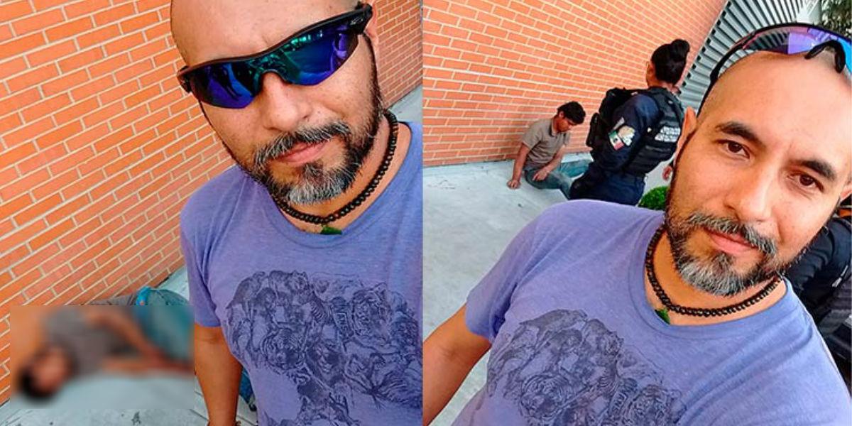 Ciclista se tomó selfies con el ladrón que acaba de noquear por intentar robarlo ¿Se pasó?