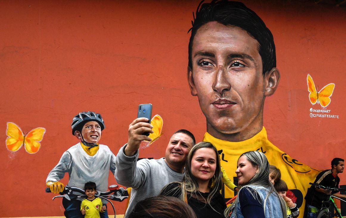 Vándalos dañaron el mural de Egan Bernal en Zipaquirá