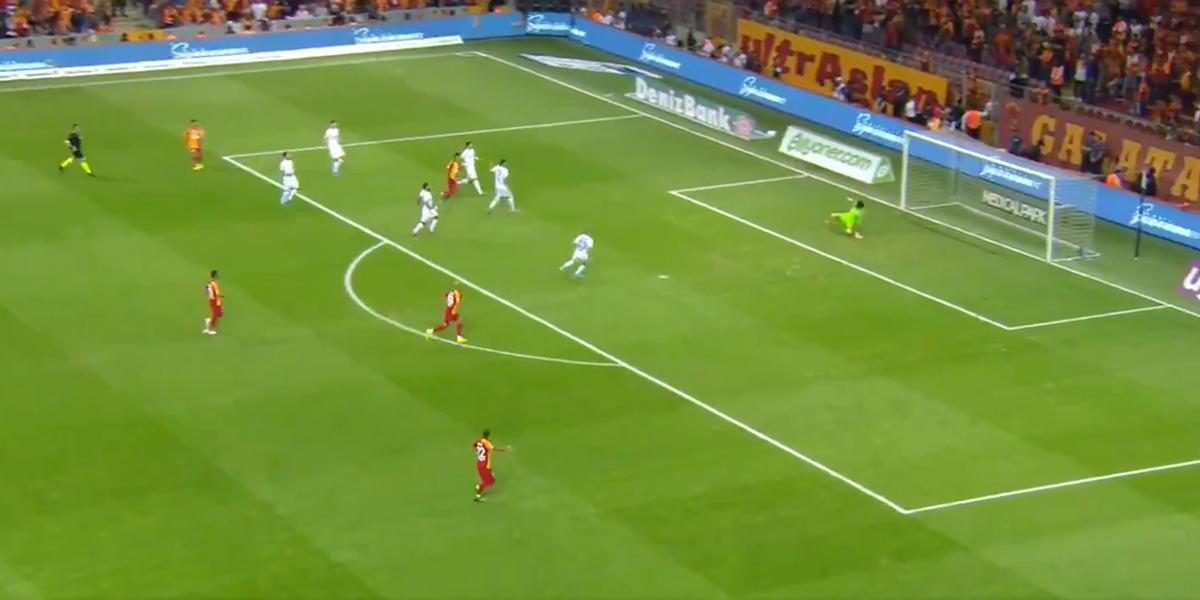 ¡El 'Tigre' ya rugió! Así fue el primer gol de Falcao en el Galatasaray