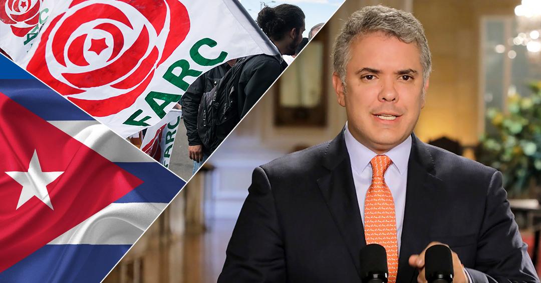 El Partido FARC rechaza declaraciones del presidente Duque sobre Cuba y su relación con ELN