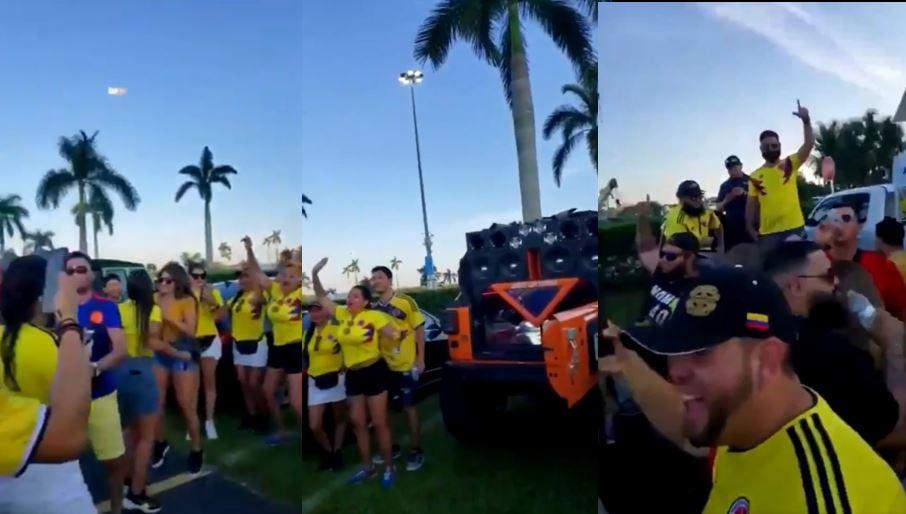 (Video) Hinchas colombianos en Miami pusieron amenazas de Pablo Escobar en altoparlantes