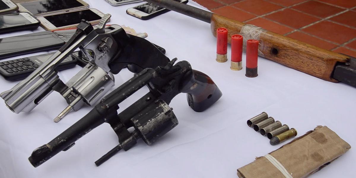 Capturan en flagrancia a traficantes de armas en vías de Magdalena, Putumayo y Atlántico