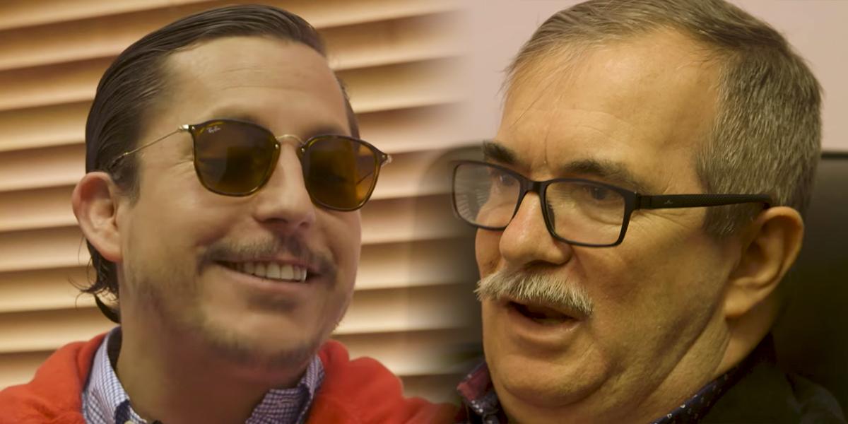 Incómoda, tensa y luego divertida: así fue la curiosa entrevista de 'Juanpis González' a 'Timochenko'