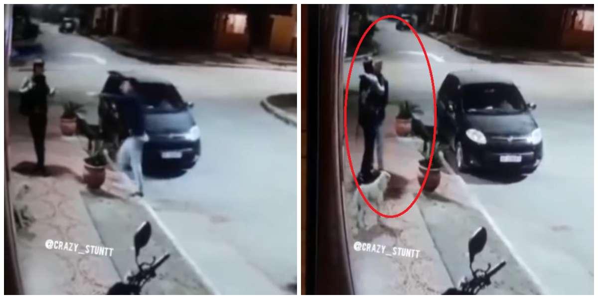(Video) Lo iban a robar, pero los ladrones resultaron ser sus amigos