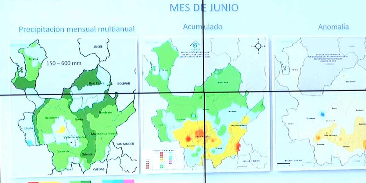 La mitad de Antioquia se encuentra en alerta por temporada de lluvias