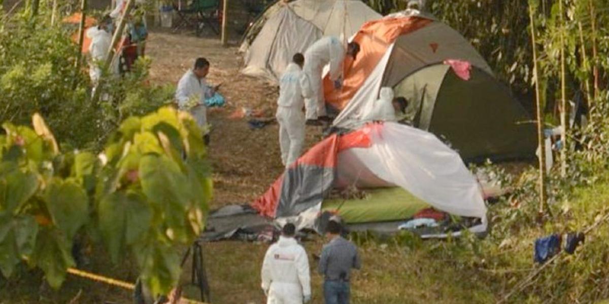 Cayó presunto responsable de la masacre de cinco personas que acampaban en zona rural de Manizales