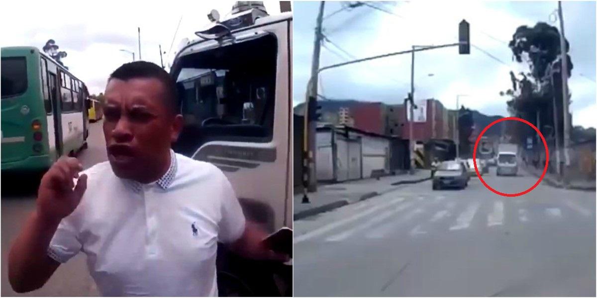 moto conductor camion bogota sur descarado