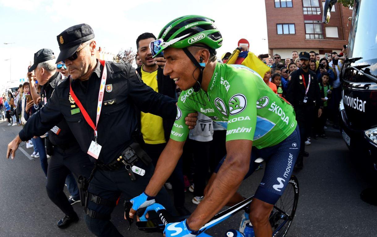 Brillante estrategia del Movistar aisló y desgastó a Roglic; Nairo llegó en la fuga y volvió al podio de La Vuelta