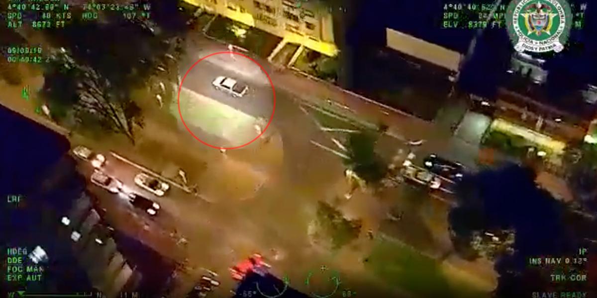 Video | Con operativo en tierra y aire, Policía logra recuperar camioneta robada en Bogotá