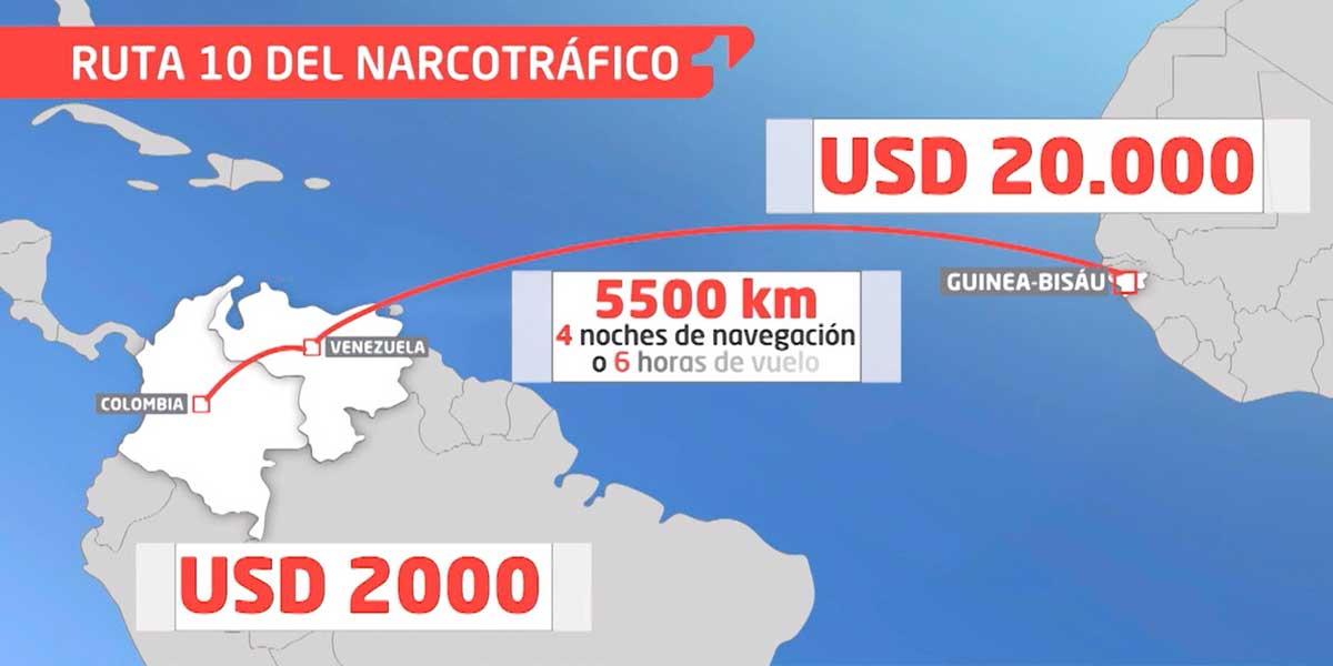La 'ruta 10': así se las arreglan los narcos para poner cocaína colombiana en Europa