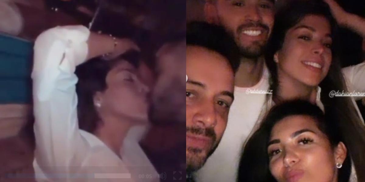¡Exclusivo! Dahian y Tebi son captados de fiesta y besándose
