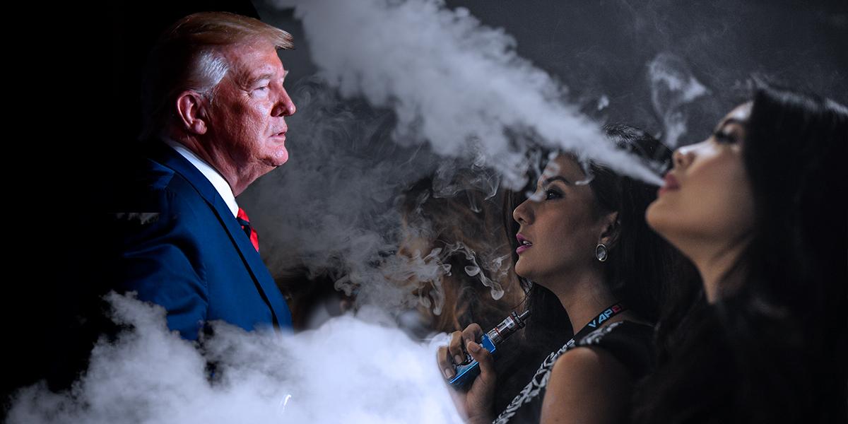 Presidente Trump planea prohibir venta de cigarrillos electrónicos con sabores en EE. UU.
