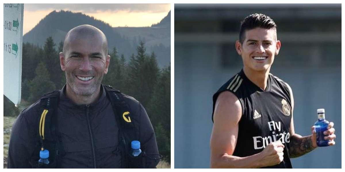 Zidane rompe su silencio y revela lo que verdaderamente piensa de James Rodríguez
