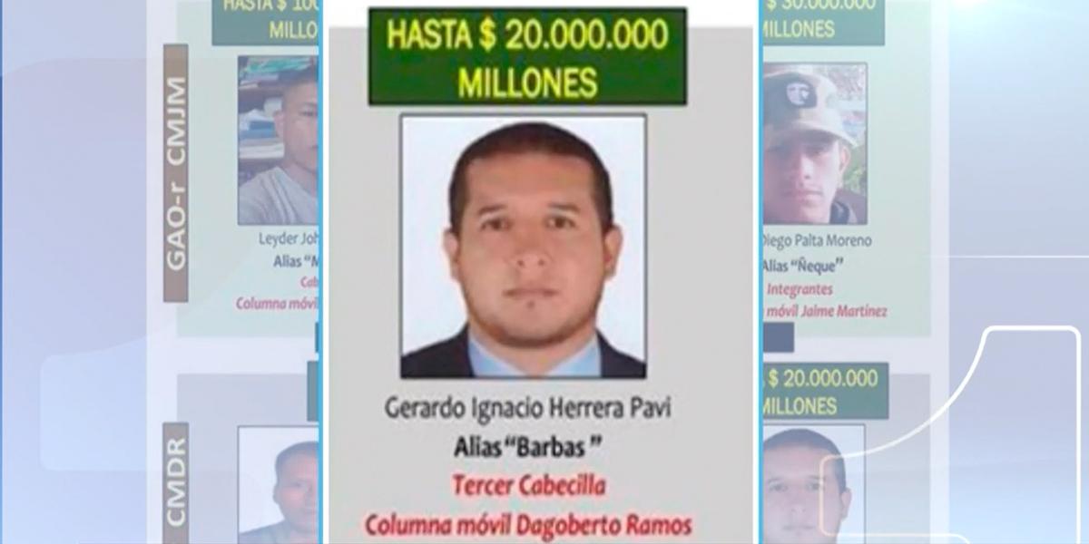 Alias 'Barbas' sería el disidente que ordenó la masacre de indígenas en el Cauca