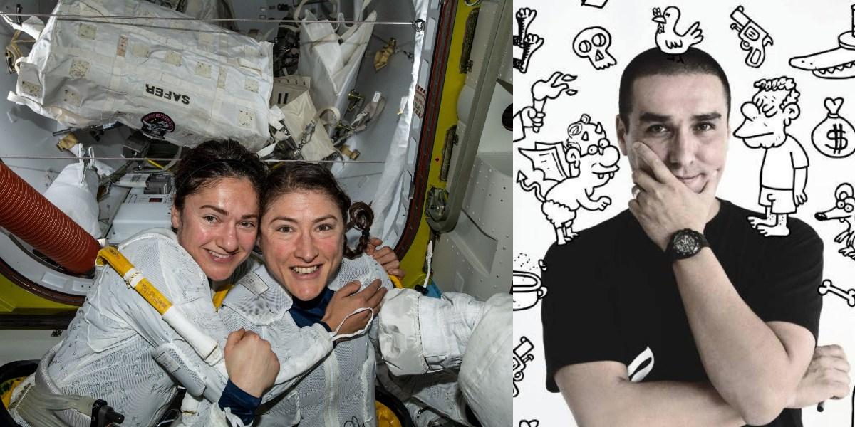 ¿Se pasó? 'Matador' hizo caricatura satirizando la histórica caminata espacial hecha por dos mujeres