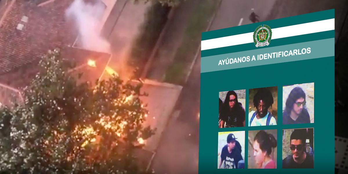 """MinDefensa revela cartel de los """"vándalos"""" en marchas estudiantiles"""