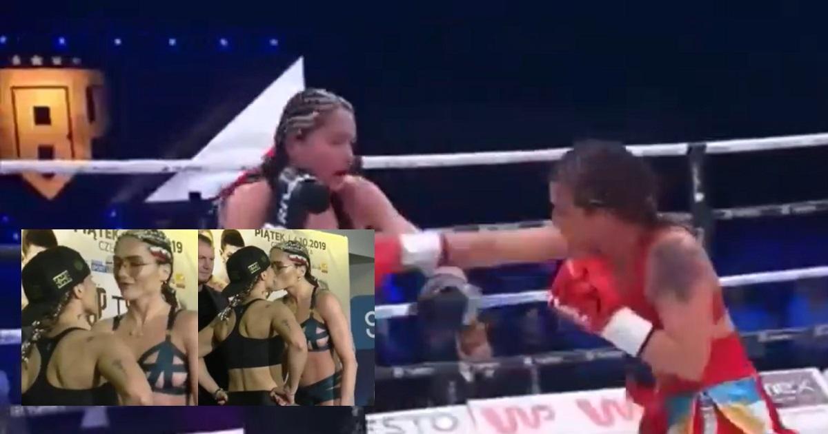 ¿Quién ganó la pelea entre las boxeadoras que se besaron y luego se 'cachetearon'?