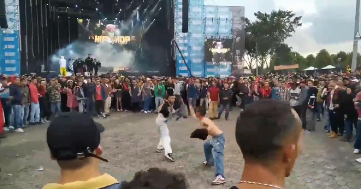Videos: Entre peleas con cuchillos, robos y vandalismo terminó Hip Hop al Parque 2019