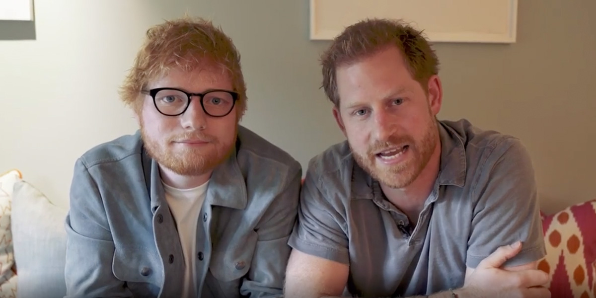 El video del príncipe Enrique y Ed Sheeran para proteger de las burlas a los «pelirrojos» como ellos