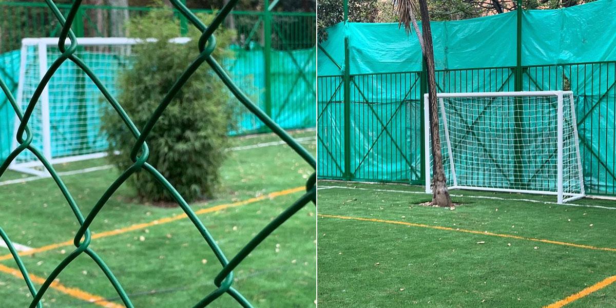 No es un chiste: así se ve hoy la cancha de fútbol del Parque Japón en Bogotá