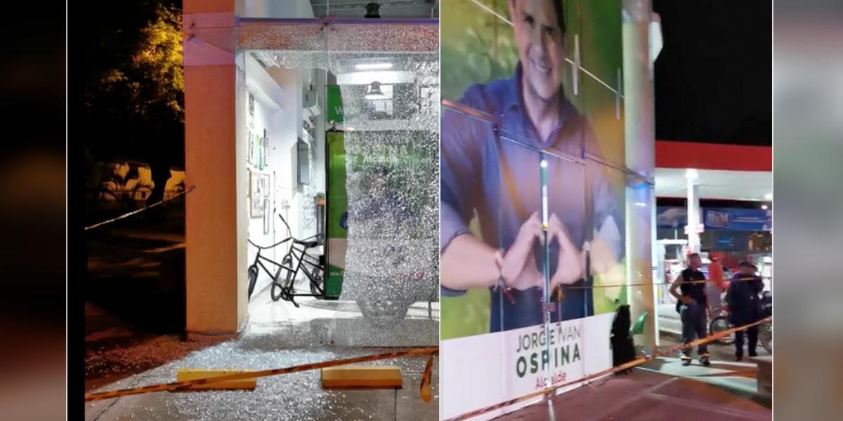 A bala fue atacada sede de candidato a la alcaldía de Cali
