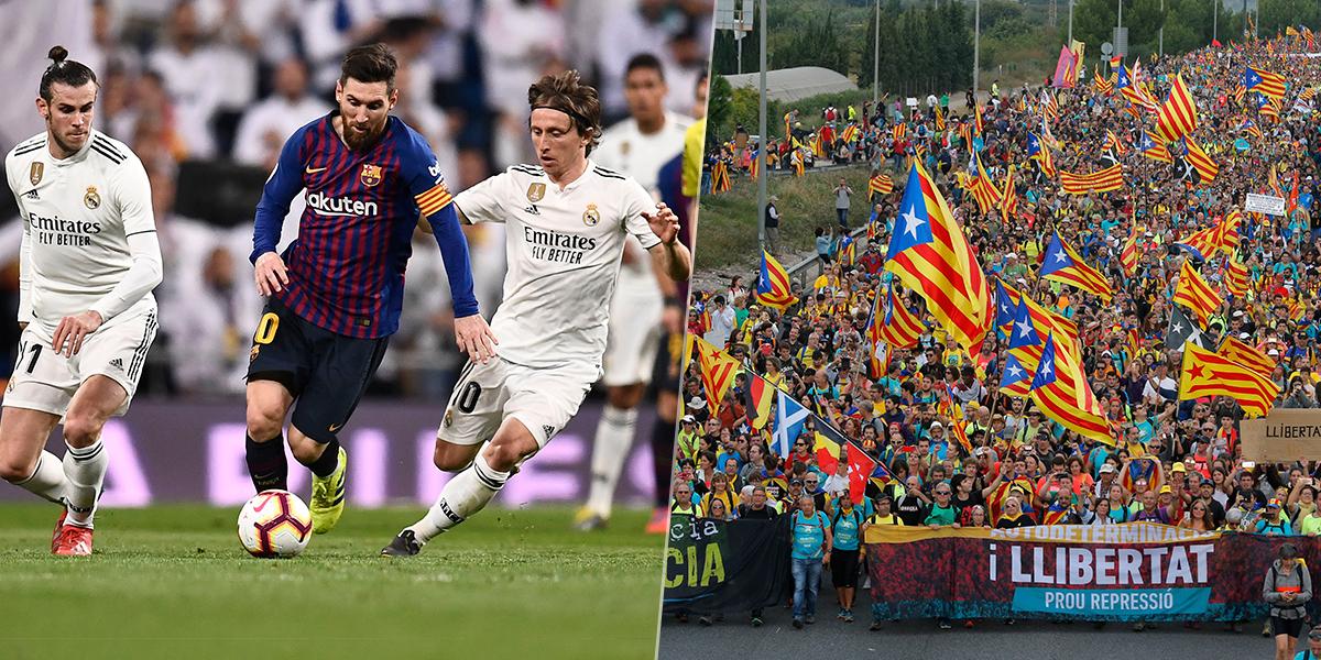 Aplazan clásico Barcelona-Real Madrid por tensión en Cataluña