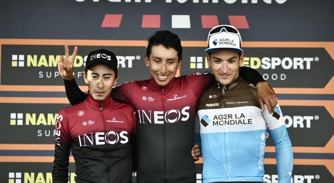 Colombia hizo el 1-2 en el Giro del Piemonte con Egan Bernal e Iván Sosa