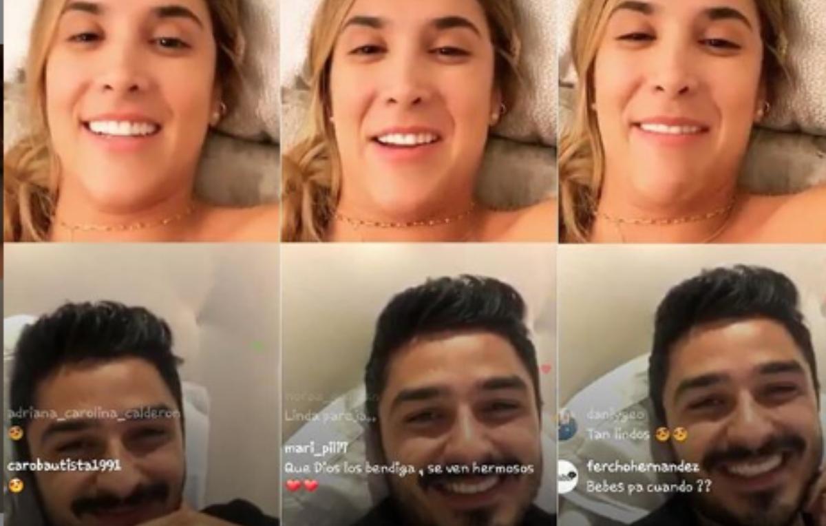 Daniela Ospina «regaña» a su novio en pleno en vivo