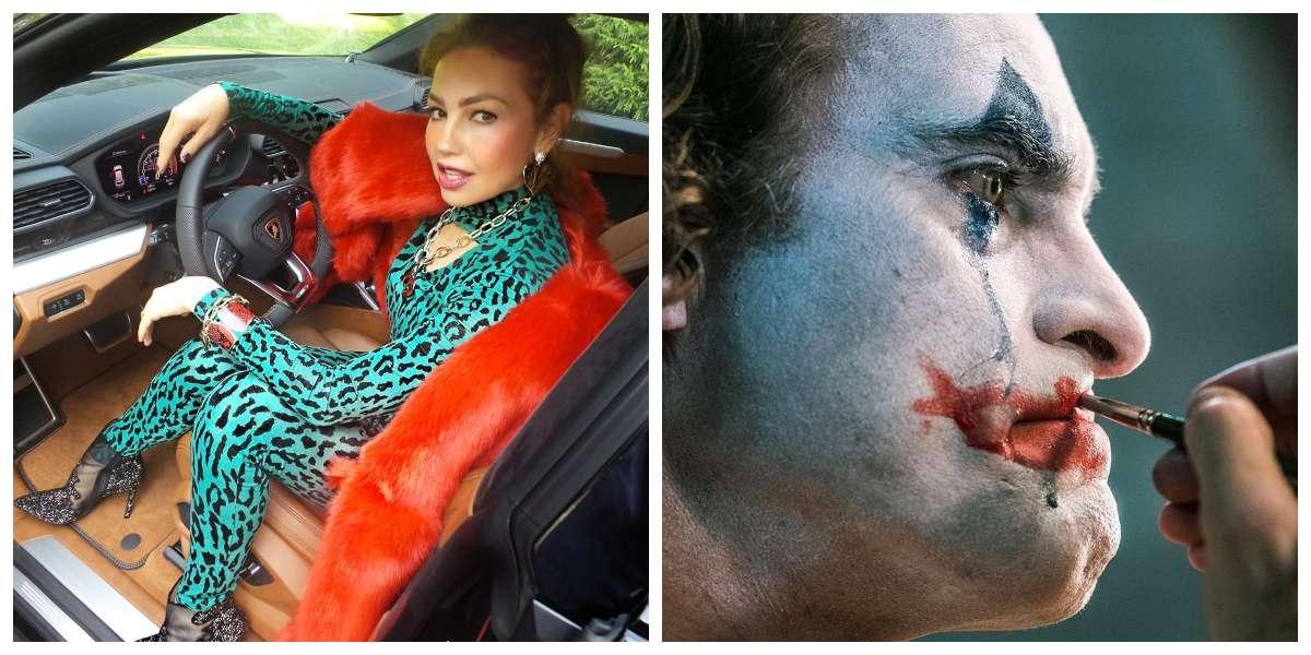 Thalía fue comparada con el Joker y sus divertidas respuestas se volvieron virales