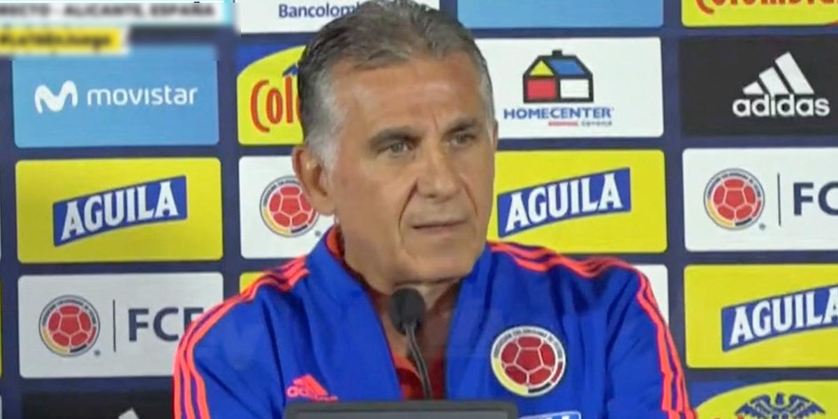 Queiroz explica ausencia de James y Falcao en convocatoria para partidos amistosos