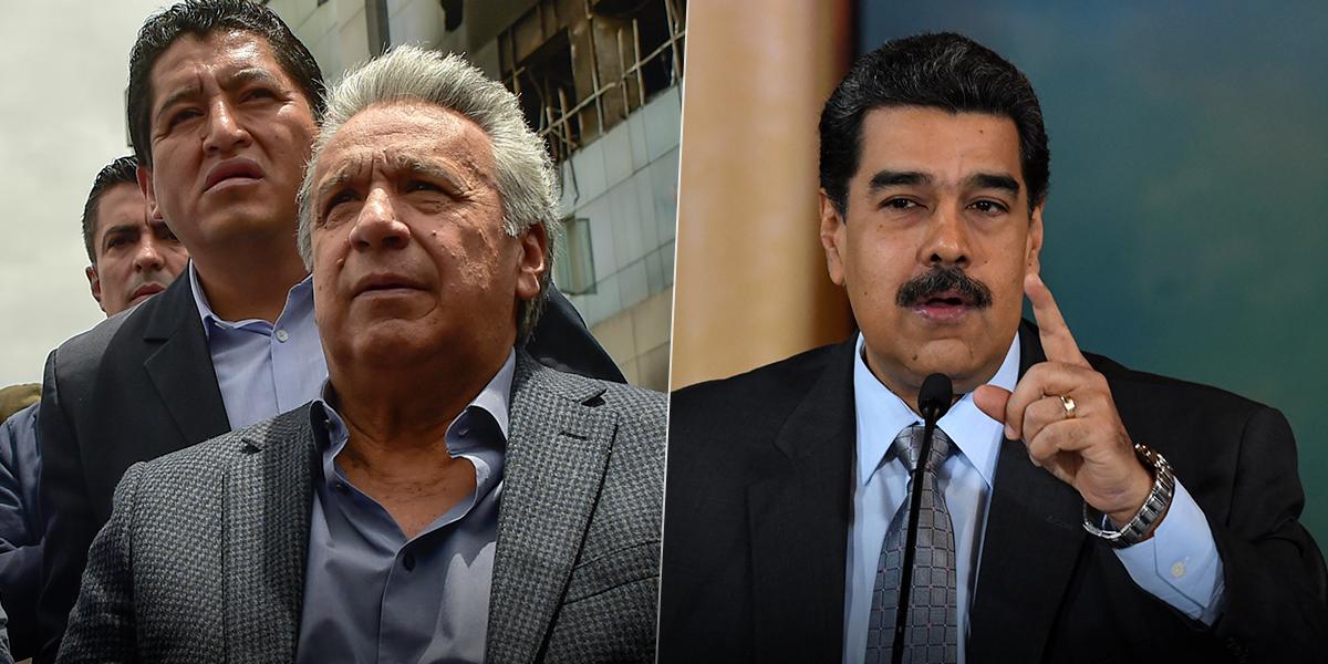 Presidente Maduro llama «estúpido» a Lenín Moreno y se desliga de protestas en la región