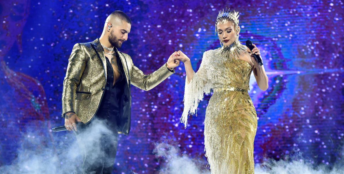 (Video) Maluma sorprendió a sus fanáticos cantando a dúo con Jennifer López