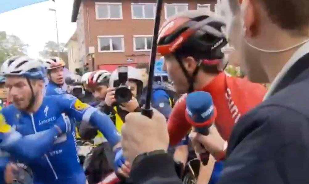 (Video) Compañero de Álvaro Hodeg se fue a los puños con otro ciclista luego de finalizar carrera en Alemania