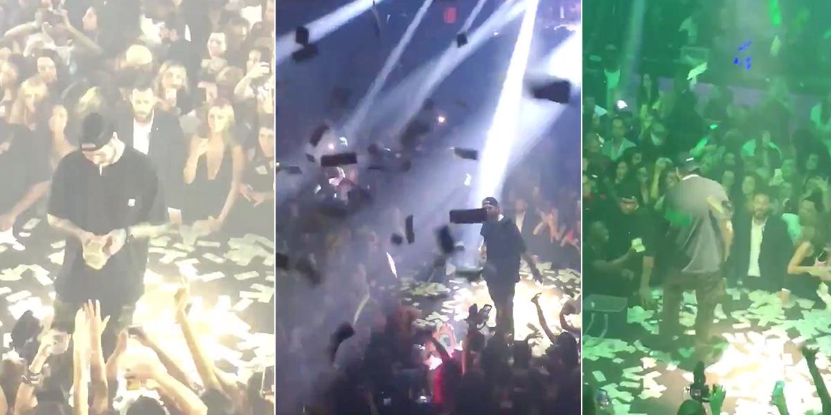 Rapero Post Malone lanza 50 mil dólares a su público en uno de sus conciertos