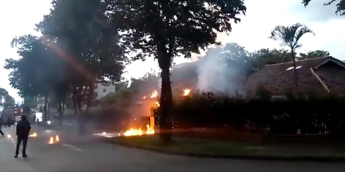 Capturan a presuntos responsables de incendiar la casa del comandante de Policía de Pereira
