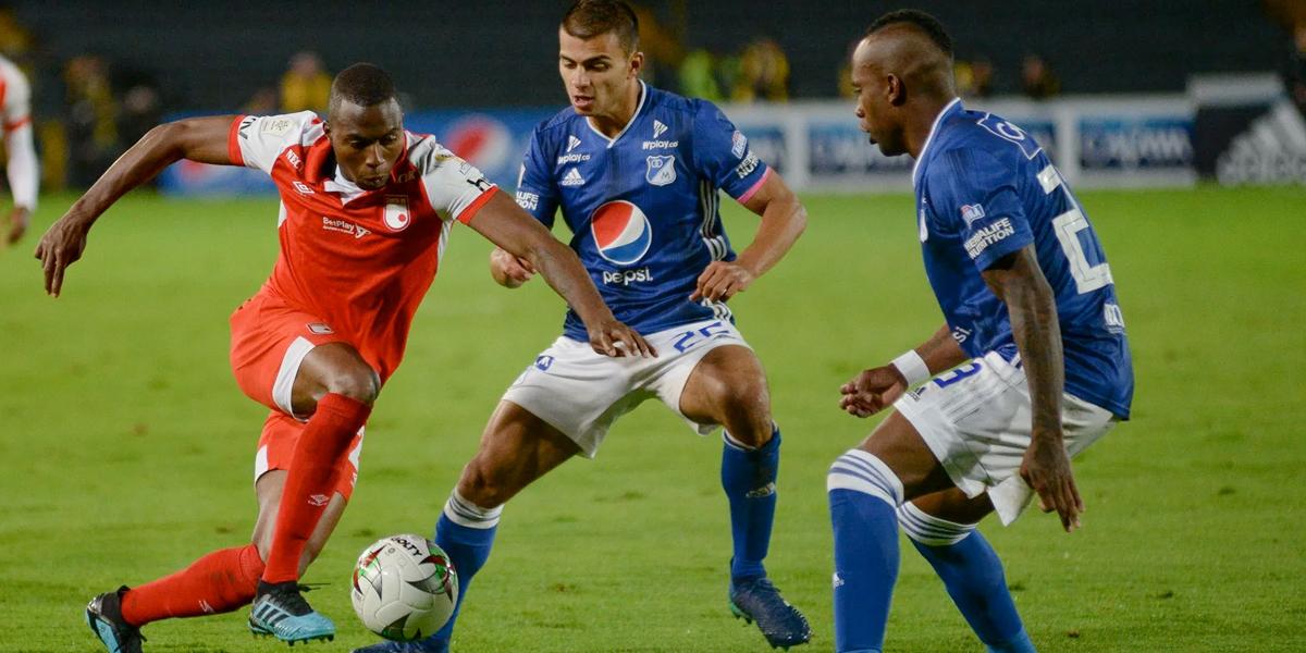 Santa Fe goleó a Millonarios y se clasificó a los cuadrangulares del fútbol colombiano