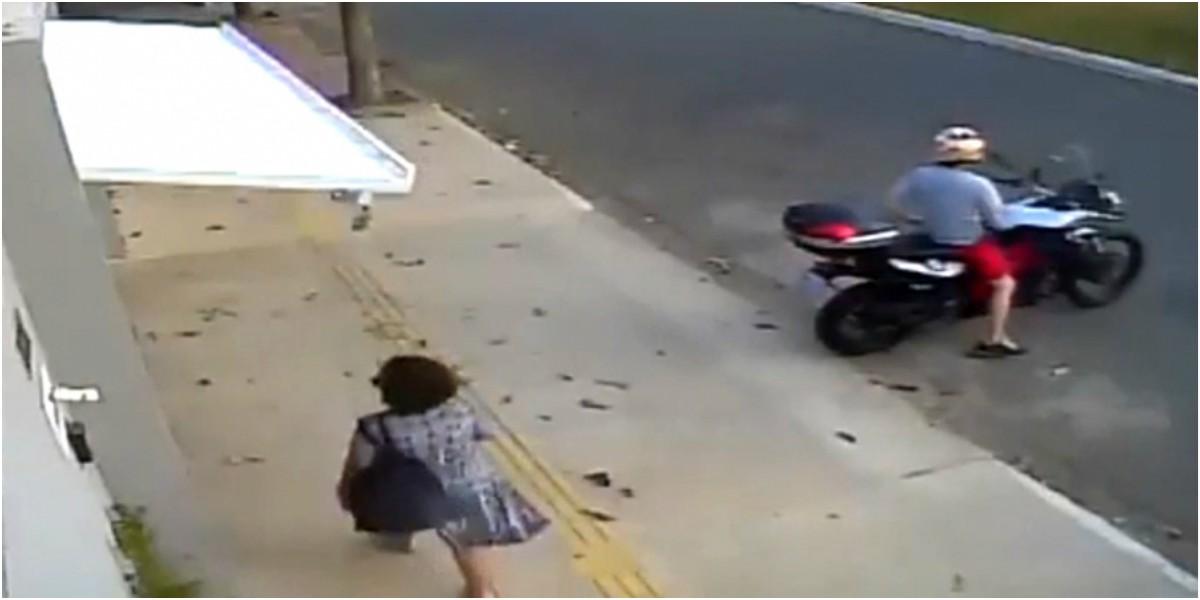 video viral mujer atrapada garaje brasil