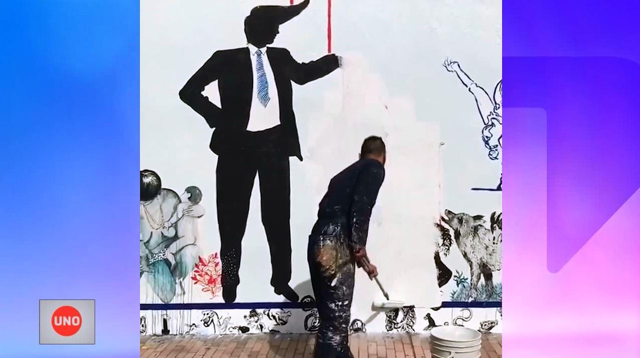 Muralistas censurados por obra en el Colombo Americano interpondrán una tutela