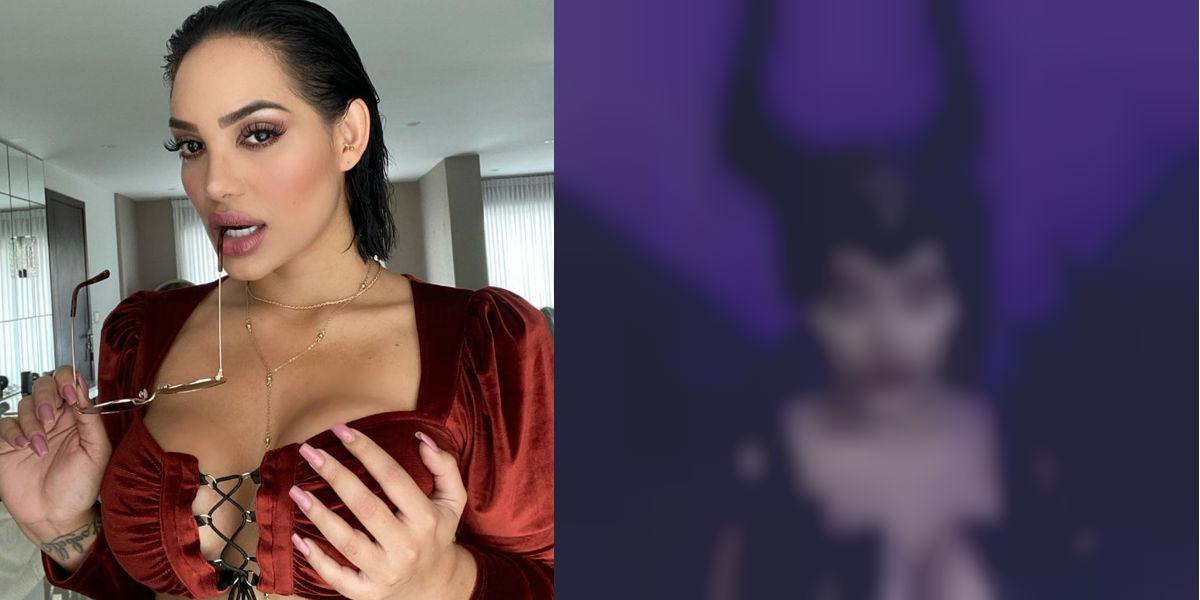 ¿Andrea Valdiri superó a Angelina Jolie con su sensual disfraz de Maléfica?
