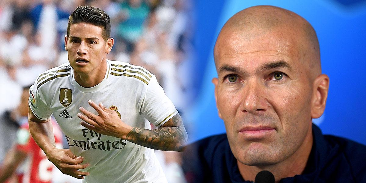La mala noticia que confirmó Zidane sobre James Rodríguez