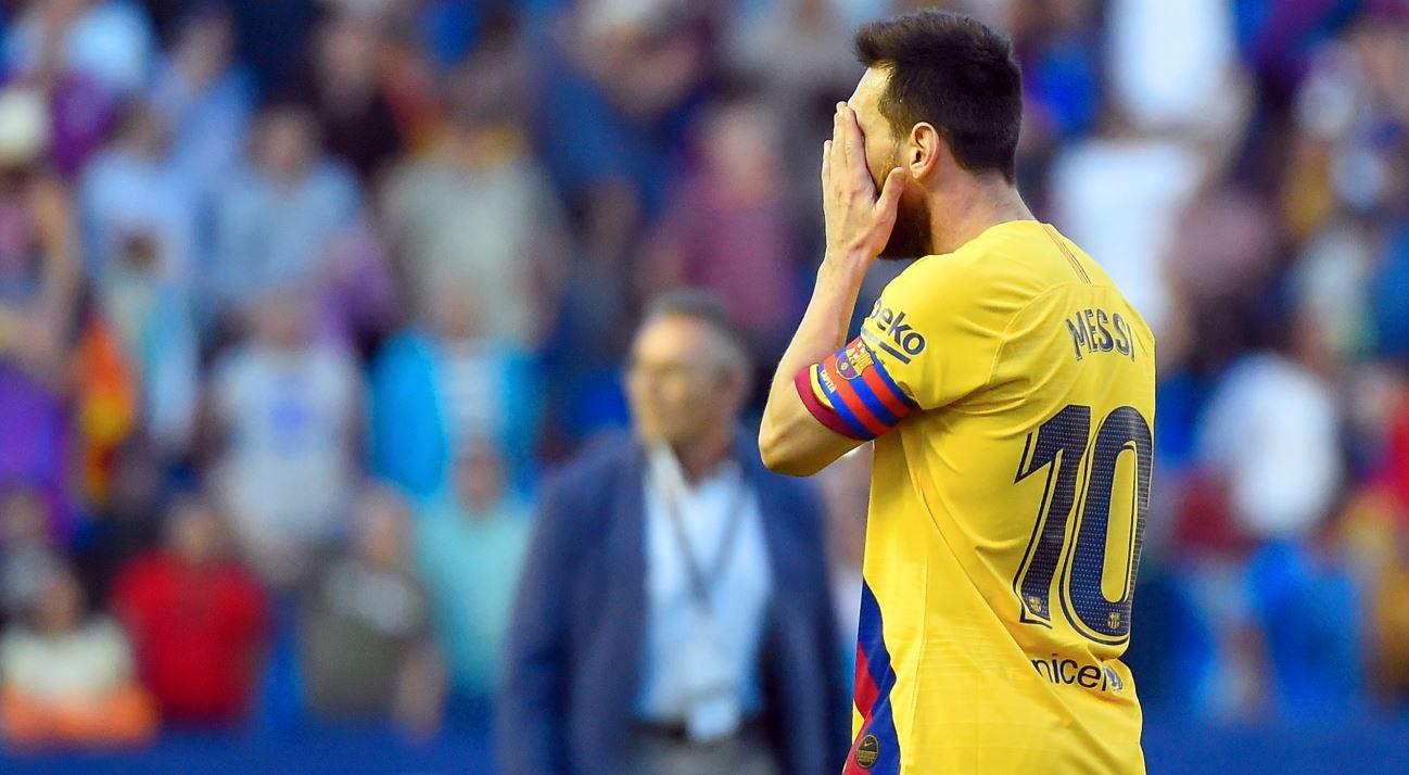 Barcelona cayó sorpresivamente ante el Levante; Suárez salió lesionado