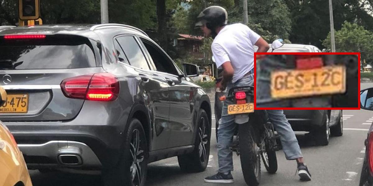 En video quedó registrado un nuevo caso de fleteo en Envigado, Antioquia